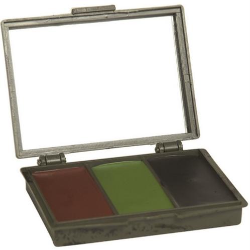 3 Colour Camo Face Paint / Cream and Mirror