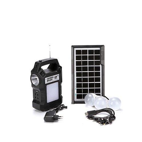 Solar lighting radio system