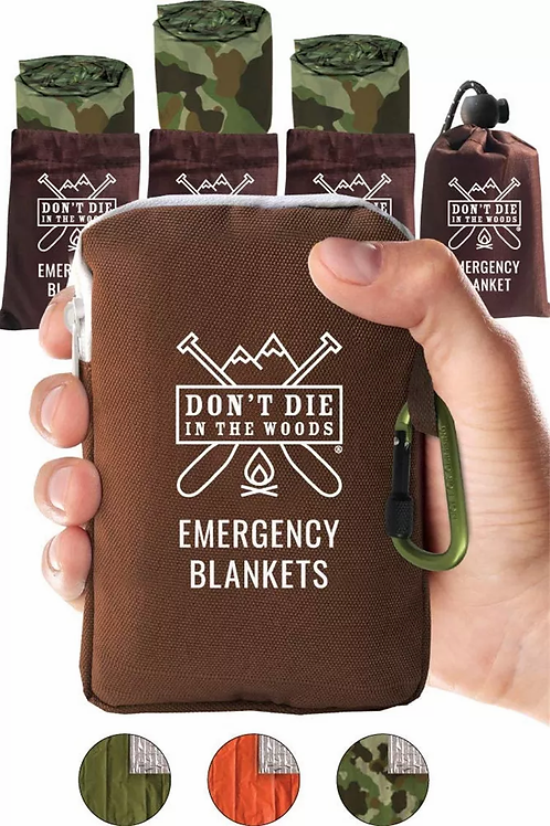 World's Toughest Emergency Blankets [4-Pack]Extra-Thick Thermal MylarFoil Space