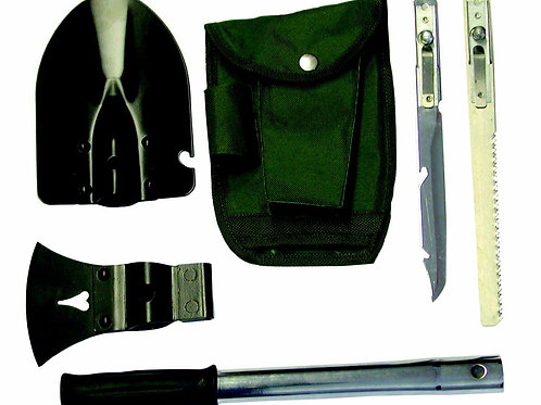 Shovel, Axe, Saw, Knife Camping set With Nylon Bag