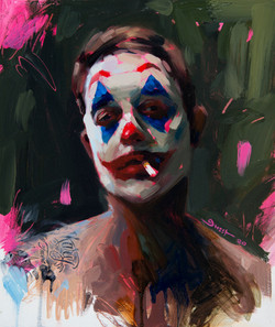 """SELF PORTRAIT w/ JOKER MAKE UP"