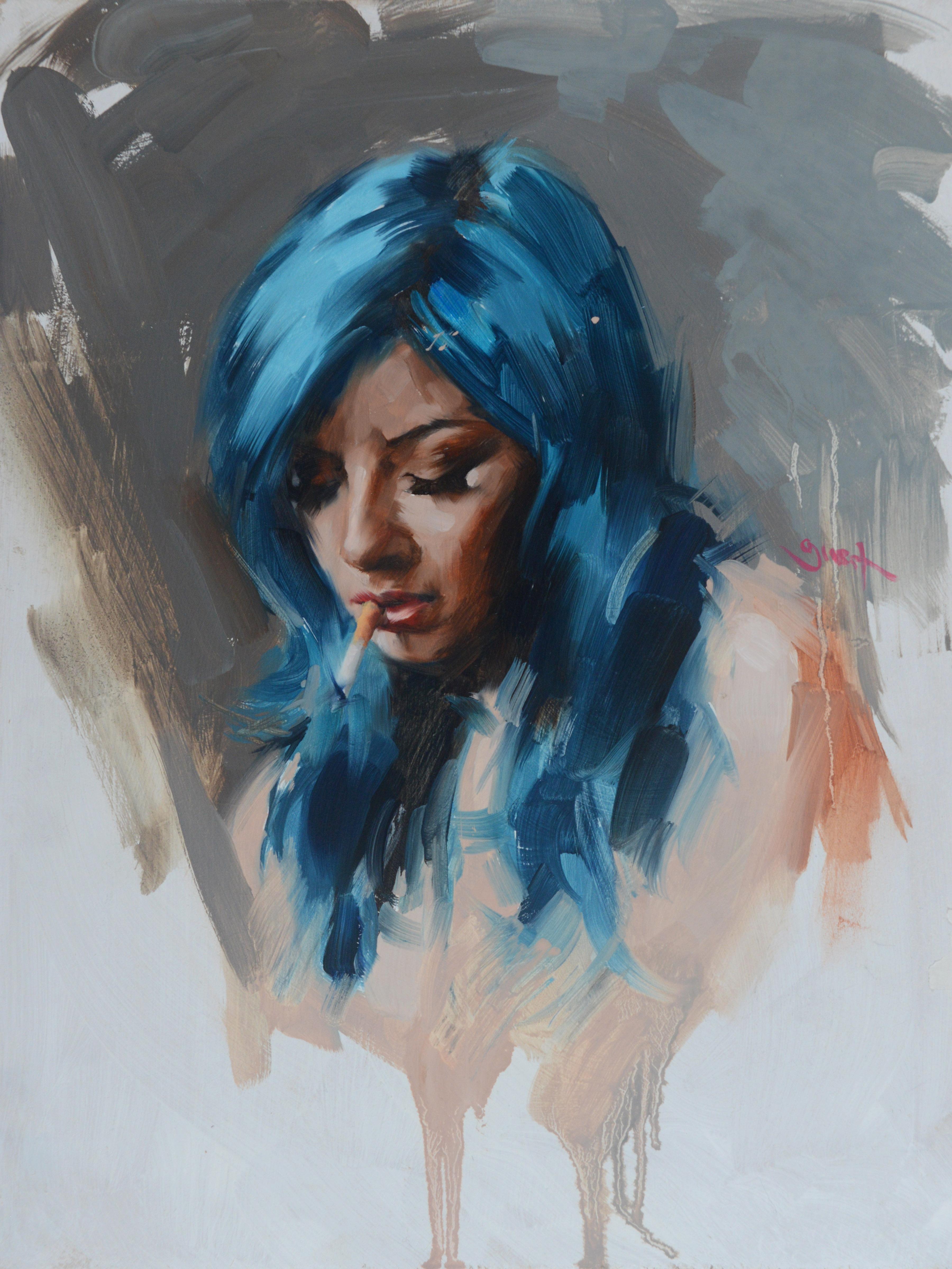 BLUE HAIR SMOKING