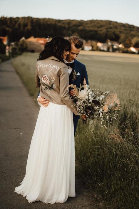 Painted Wedding Jacket