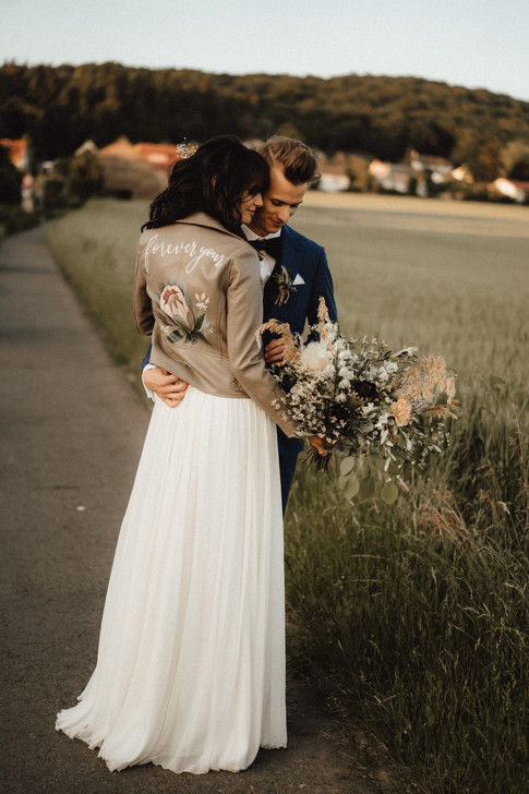 Painted Wedding Jacket