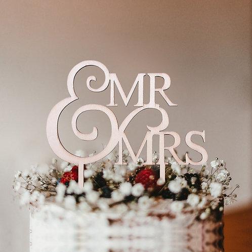 Mr. & Mrs. Cake Topper