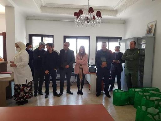توزيع مساعدات غذائية على الأسر المعوزة بإشراف من عامل برشيد نور الدين اوعبو و رئيس بلدية سيدي رحال