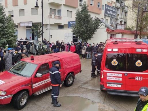 فاجعة تهز طنجة..انتشال 24 جثة لعمال غرقوا في قبو معمل غمرته الأمطار