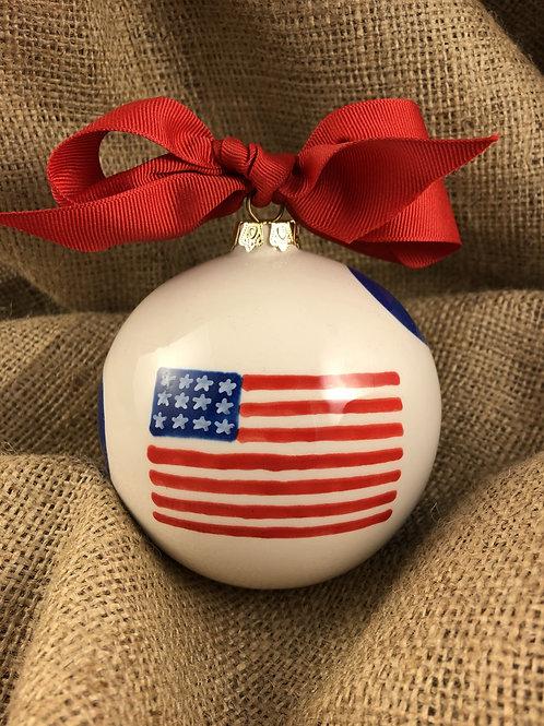 God Bless America Ball Ornament
