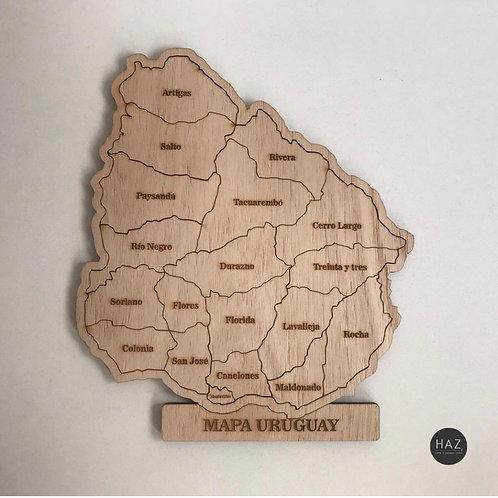 Puzzle mapa de Uruguay