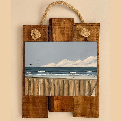 Cuadro con marco madera