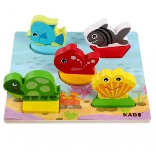 Puzzle temática océano