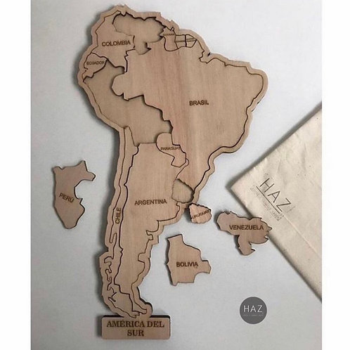 Puzzle mapa latinoamérica