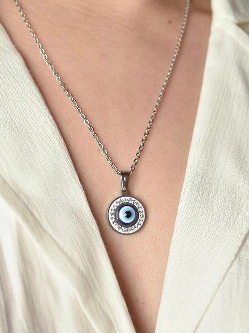 Collar ojo turco circular