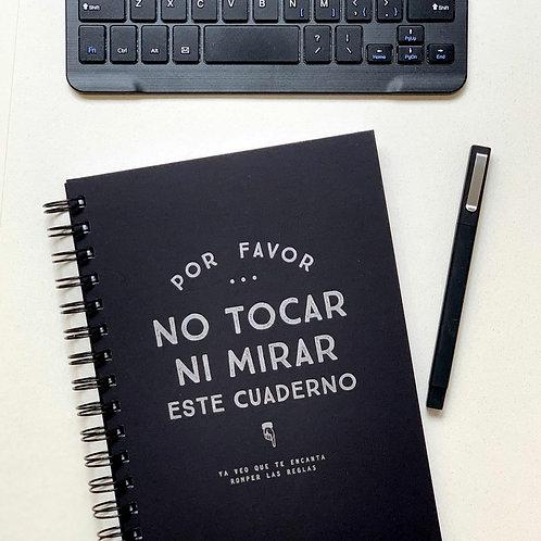 Cuaderno No tocar