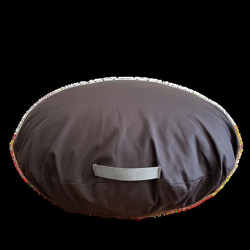 Almohadón redondo gris