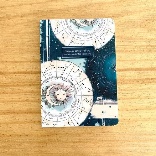 Cuaderno con lomo Astrología