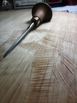 Matrice di legno e bulino