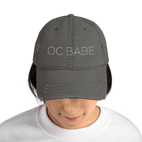Distressed Dad Hat White Logo