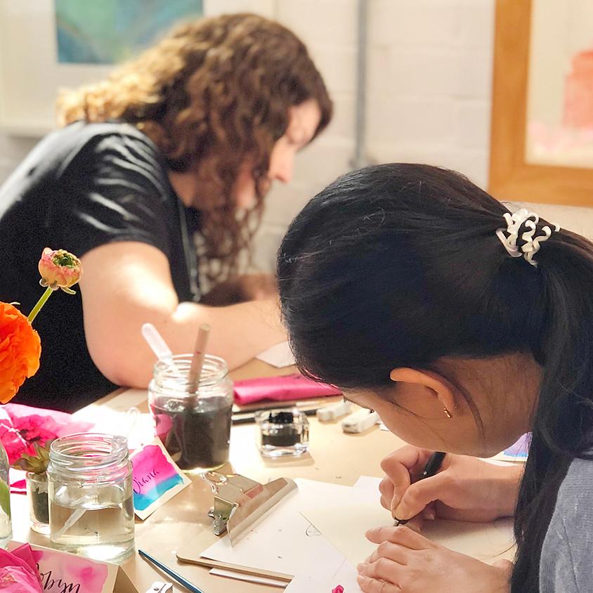 Bromley: Beginners Modern Calligraphy Pointed Nib Workshop - Evening