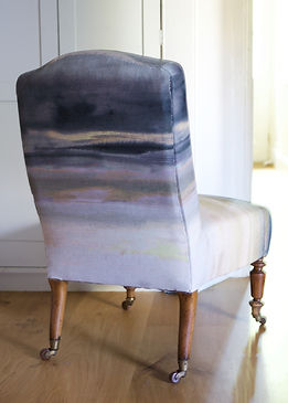 Side Chair in Boeme Linen