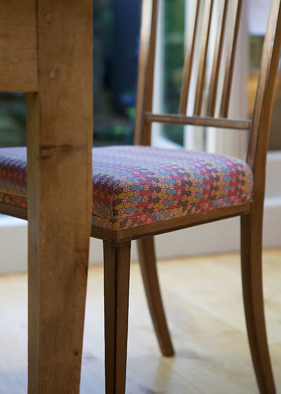 Dining Chair traditionally upholstered