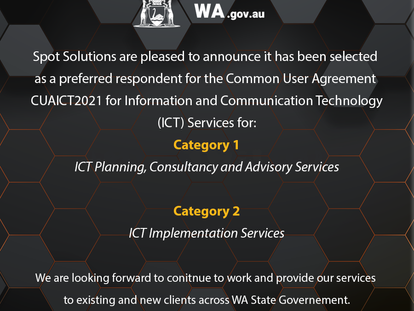 Spot Solutions has been selected as a preferred respondent for CUAICT2021