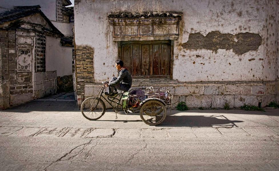 Afternoon Ride;  Xizhou,China