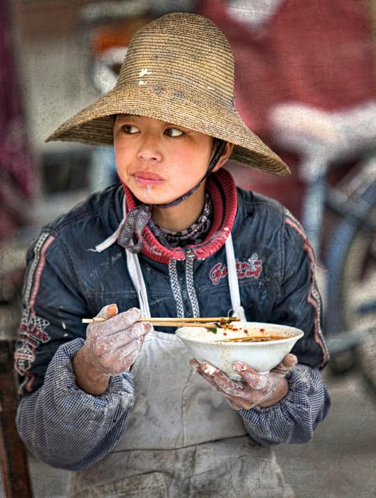 Baker's Lunch Break; Xizhou,China
