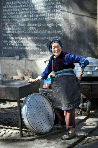 Early Morning Vendor; Zhoucheng, China