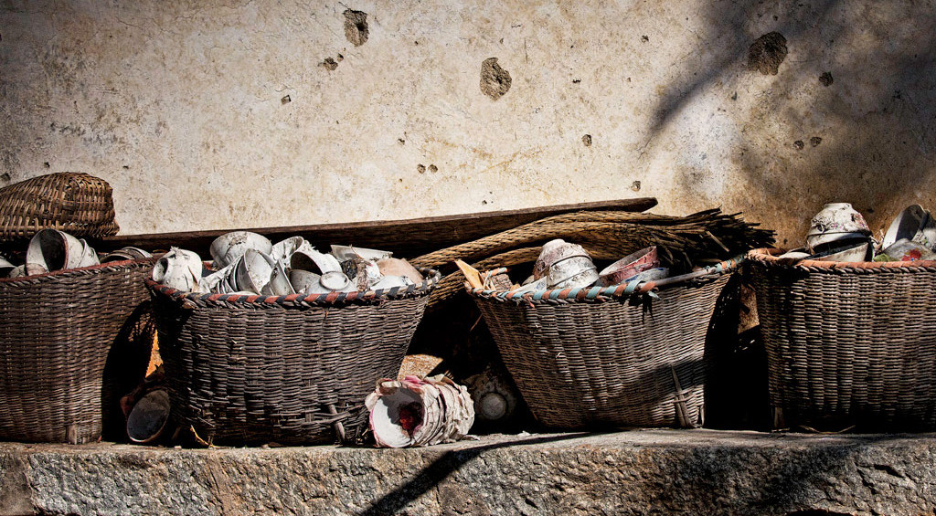 Broken Temple Teacups, China