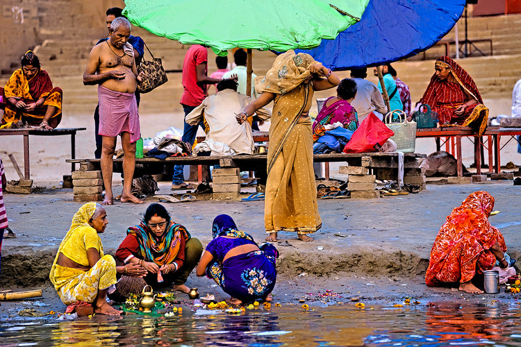 Morning on the Ganges, India