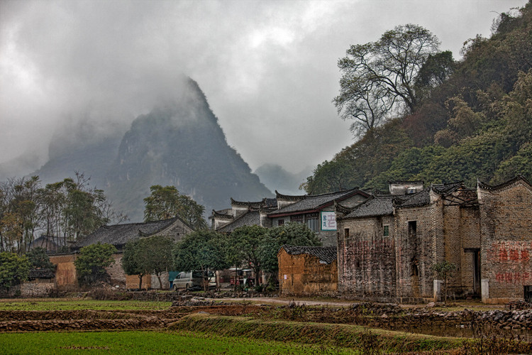 Chinese Village in Yangshuo Area