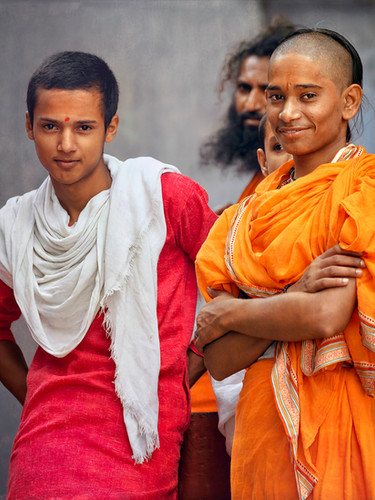 Young Temple Monks;  Varanasi, India