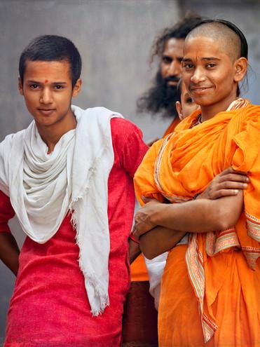 Young Temple Monks;  Varanasi, India