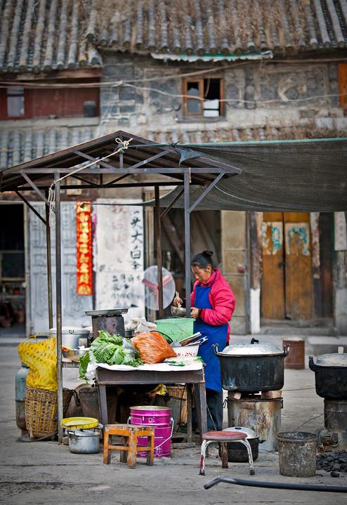 Opening Market Chores, Xizhou, China