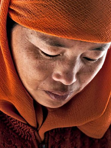 Muslim Woman;  Hui village, Yunnan, China