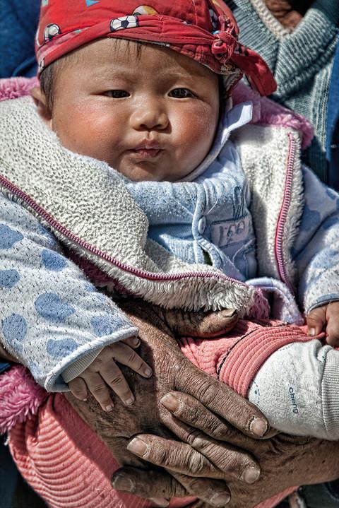 Father and Child; Yunnan, China