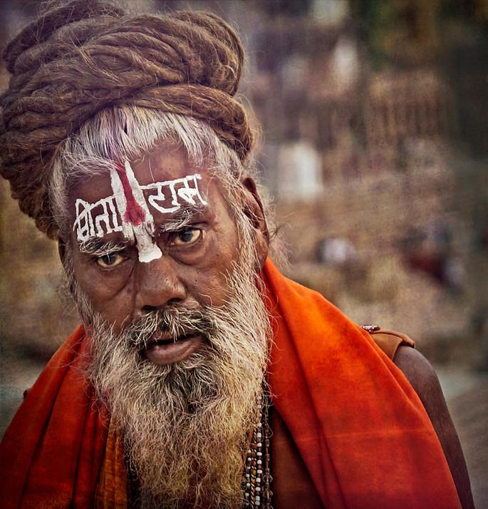Painted Sadhu at Dashashwarmedh Ghat