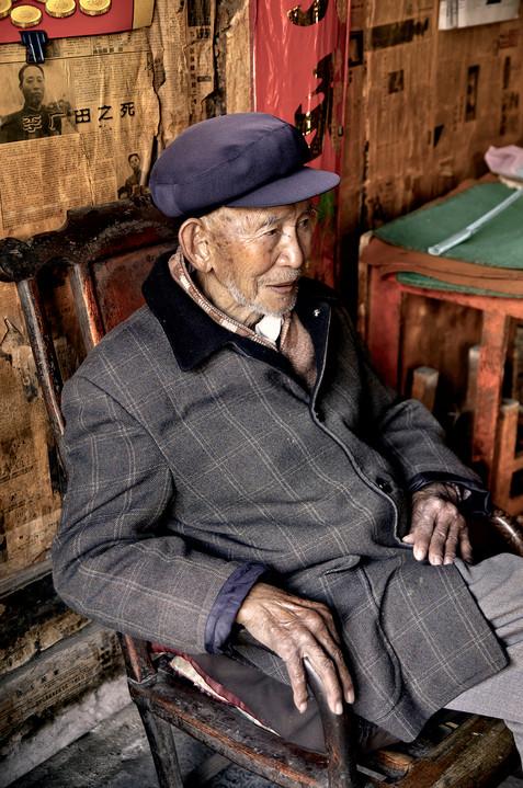 Relazing After Mahjong;  Xizhou, China