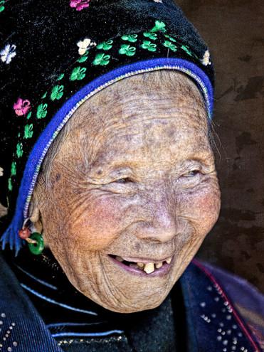 Portrait of a Bai Woman; Xizhou, China