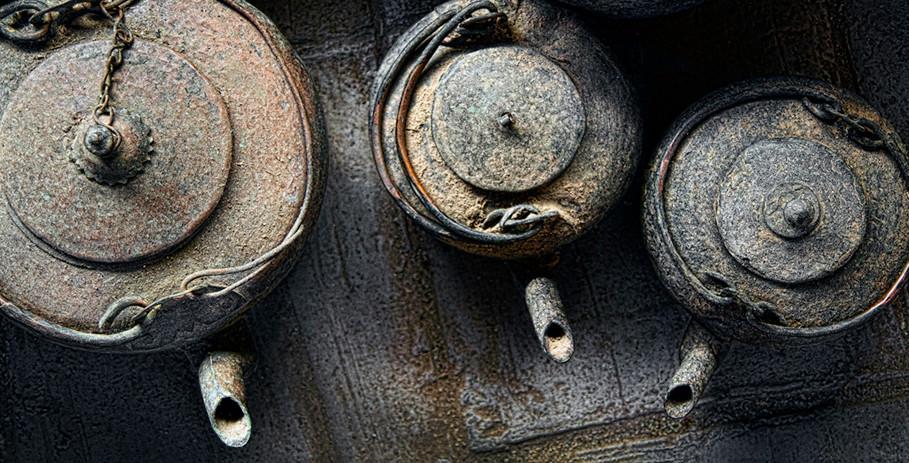 Rusting Teapots; Xizhou, China