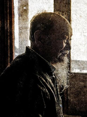Silhouette of a Village Elder; Xizhou, China