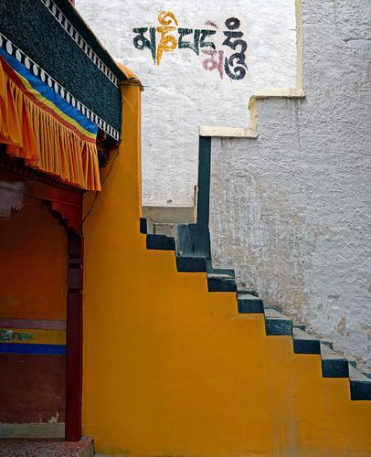 Thikse Monastery Interior Stairs