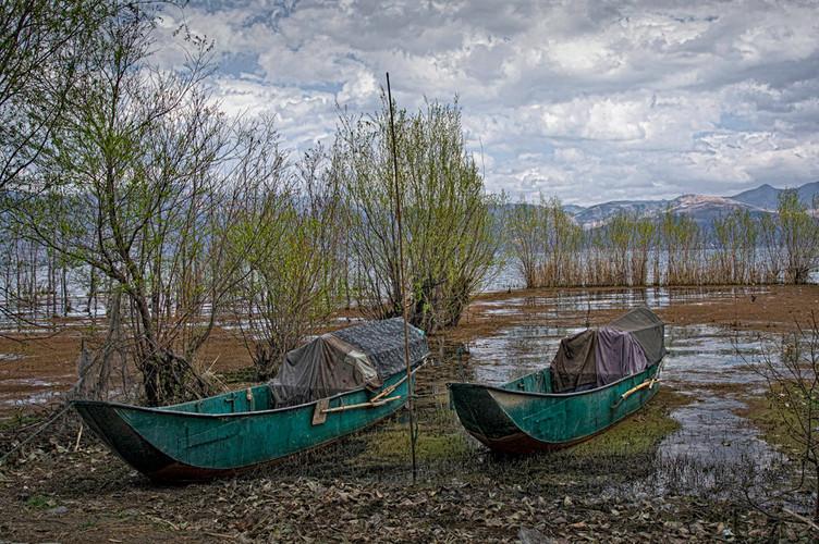 Traditional Fishing Boats on Lake Erhai, Yunnan Province