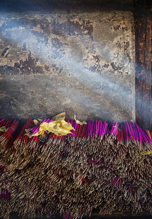 Incense Temple at Jizhushan Mountain, China
