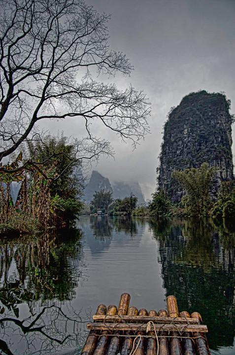 Li River and Karst Mountains; Yangshuo, Guilin, China