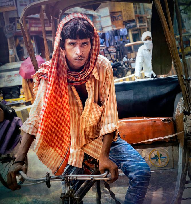 Rickshaw Driver; Veranasi, India