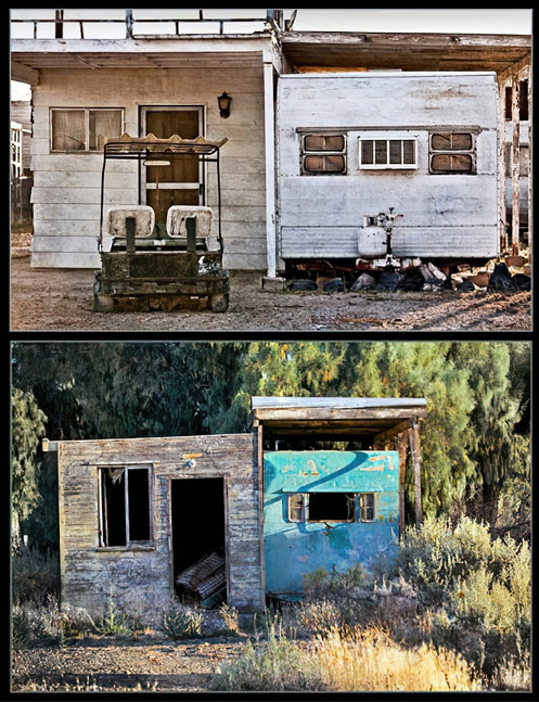 Diptych: Abandoned Trailers