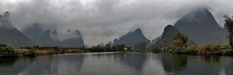 Drifting on the Li River; Yangshuo,China