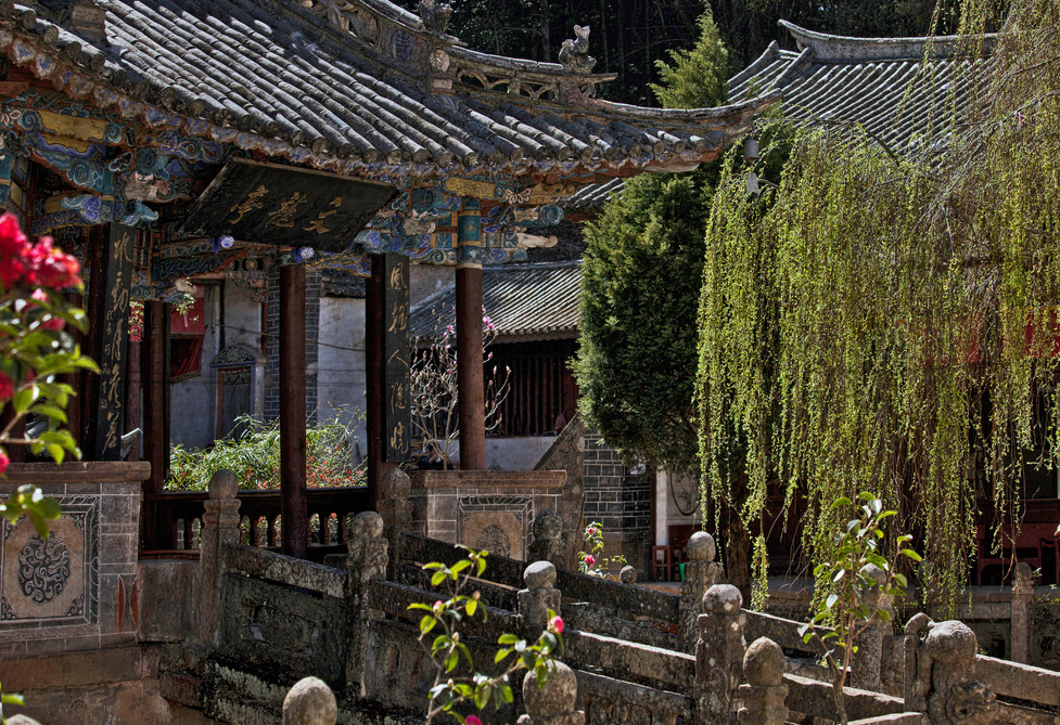 Afternoon Light on Temple in Dali, China